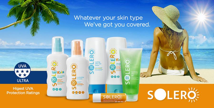 Solero Sun care range