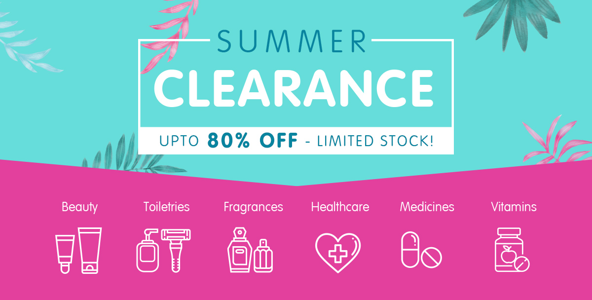 Summer Clearance - upto 80% off